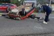 У Яремче перекинувся автомобіль: вагітну пасажирку доставили у лікарню (Фото)