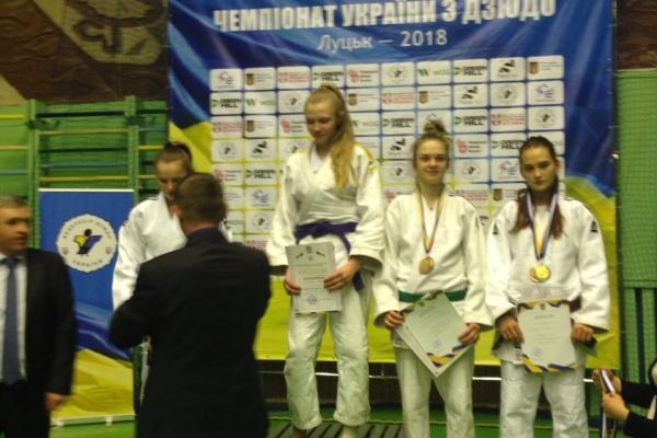 Прикарпатська дзюдоїстка стала володаркою золотої медалі чемпіонату України
