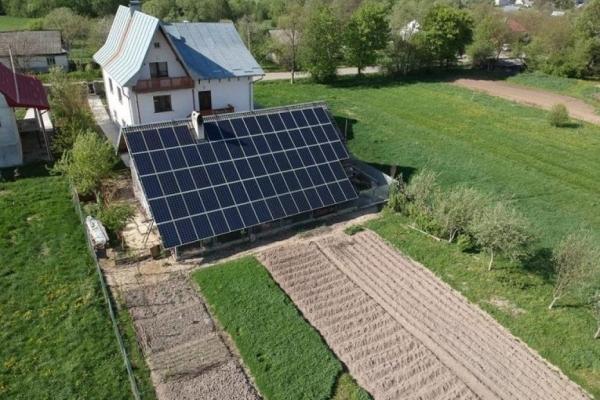 На Франківщині змонтували сонячну електростанцію