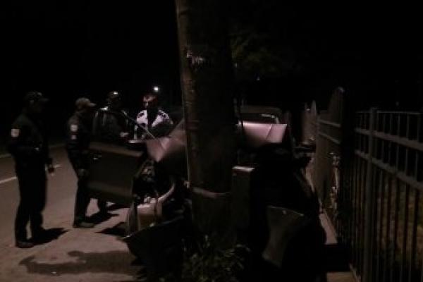 Під Франківськом водій заснув за кермом і врізався в електроопору (Фото)