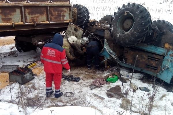 На Франківщині загинув тракторист, який зірвався у 20-метровий обрив