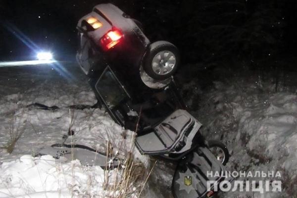На Прикарпатті п'яний водій на «Ауді» злетів з дороги – двоє людей у лікарні