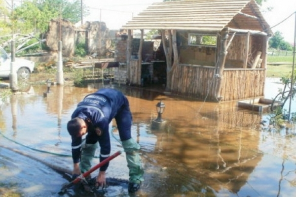 Через сильні опади затопило населений пункт на Рогатинщині