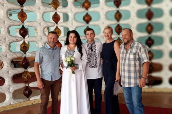 У Калуші вийшла заміж учасниця бойових дій на Сході України