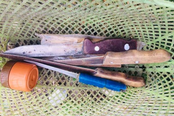 У двох прикарпатців вилучили багнети до нарізної зброї (Фото)