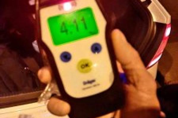 4.11 проміле: Франківські патрульні спіймали дуже п'яного водія