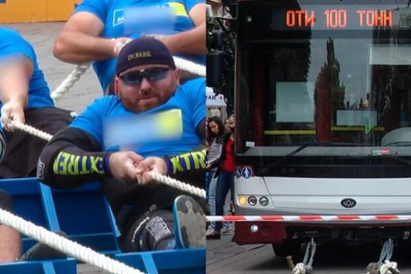 У Івано-Франківську спортсмени тягнули 9 автобусів і встановили рекорд України (Фото)