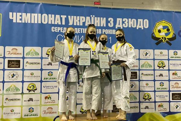 Юна дзюдоїстка з Прикарпаття завоювала бронзу на чемпіонаті України