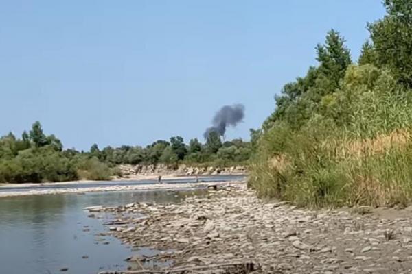 Опублікувано відео падіння літака на Прикарпатті